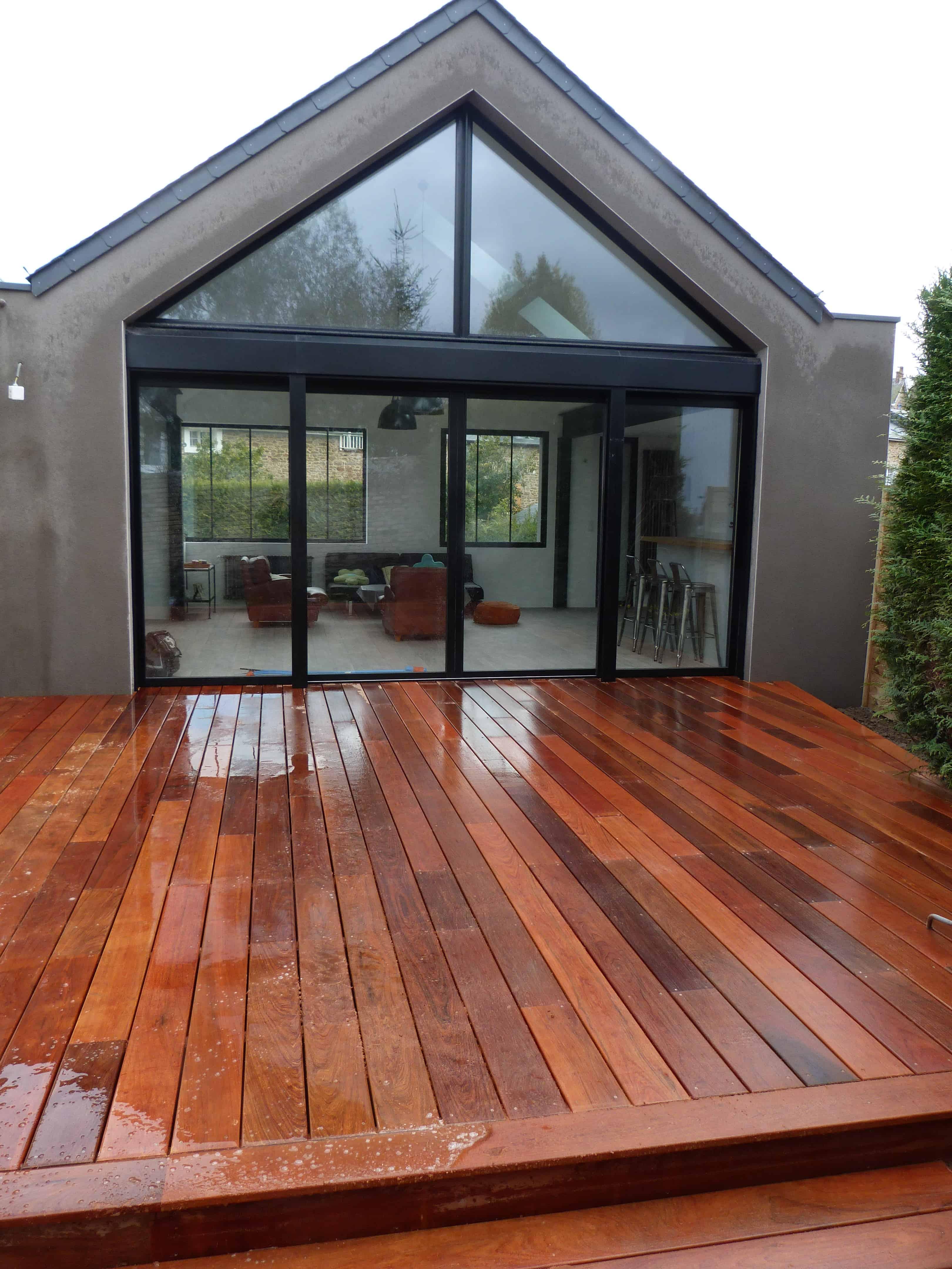 terrasse en bois dinard escalier extérieur et terrasse réalisé à